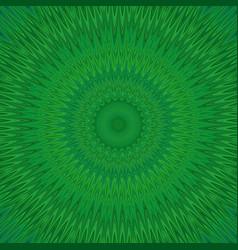 Green mandala explosion fractal background - vector