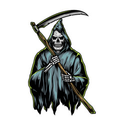 grim reaper with scycolorful concept vector image