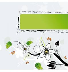 grunge flowers vector image vector image