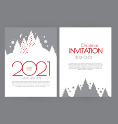 happy new 2021 year flyer design template elegant vector image