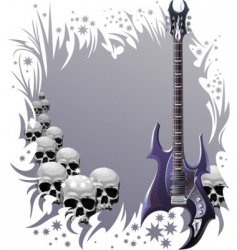 heavy rock style background vector image