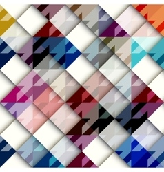 Houndstooth pattern with white geometric squares vector