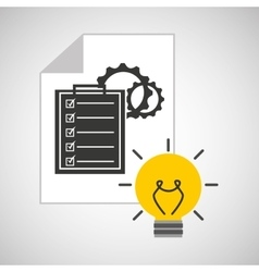 idea gear programming test vector image