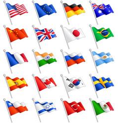 international flags set vector image