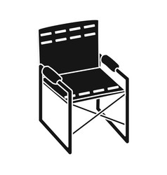 isolated object chair and folding icon set of vector image