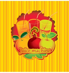 Juice machine vector image vector image