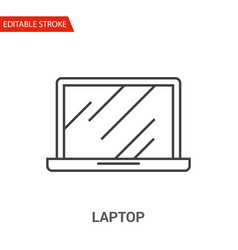 laptop icon thin line vector image