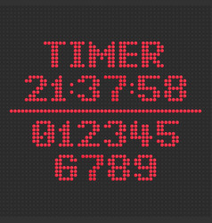 led display timer vector image