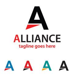 Letter a logo template design vector