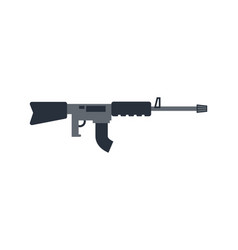 Machine gun isolated military rifle on white vector