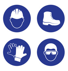 Mandatory health safety signs vector