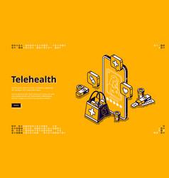 medical online consultation telehealth vector image