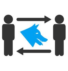 men dog exchange icon vector image