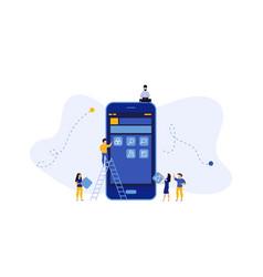 mobile app development concept design application vector image
