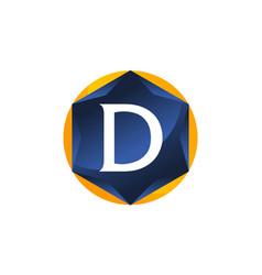 Modern letter d vector