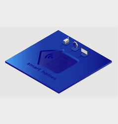 Modern smart home technology internet controlling vector