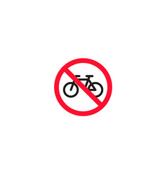 No bicycle roadsign isolated on white background vector