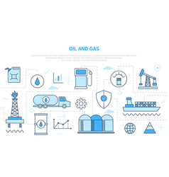 Oil and gas industry concept campaign for website vector