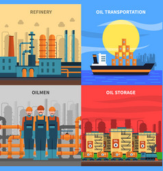 oil concept icons set vector image