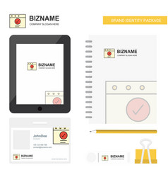 ok business logo tab app diary pvc employee card vector image