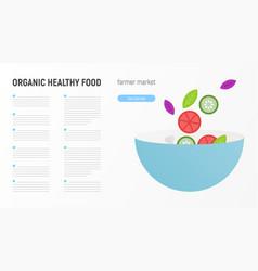 Organic healthy food vector