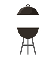 Oven grill bbq icon vector