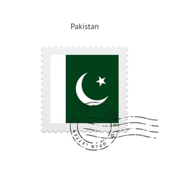 Pakistan Flag Postage Stamp vector