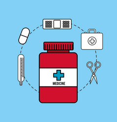 Pharmaceutical drugs and surgery icon vector