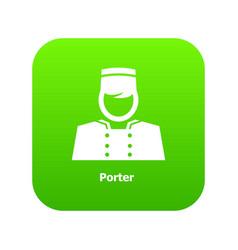 Porter icon green vector
