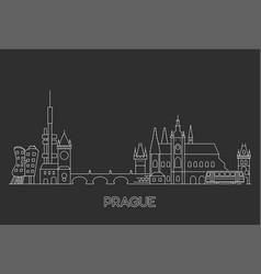 prague skyline czech republic vector image