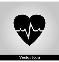 Pulse hearth icon on grey background illus vector image