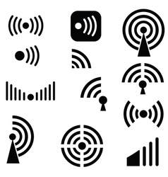 Radio waves vector