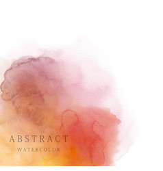 Red orange abstract watercolor background vector