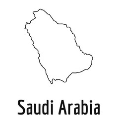 Saudi arabia map thin line simple vector