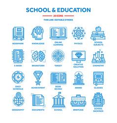 school education university study learning vector image