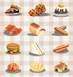 set food vector image