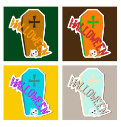 set of hand drawn halloween icon with a textured vector image