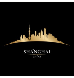 Shanghai China city skyline silhouette vector image