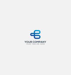 Simple b and f logo design modern blue vector