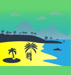 South summer beach vector