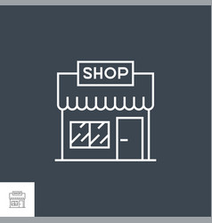 store line icon vector image