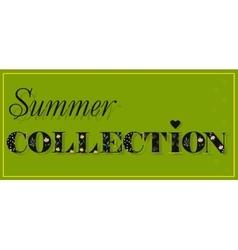 Summer Collection Black Floral font vector