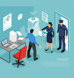 tax audit isometric composition vector image