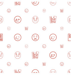 Tear icons pattern seamless white background vector