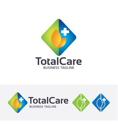 total care logo design vector image