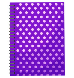 violet notebook for notes with metal spiral vector image