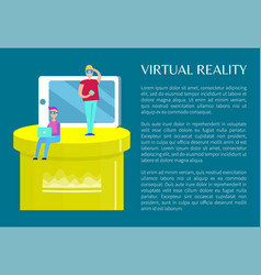 virtual reality banner visualization of technology vector image