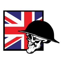 warriors skull in helmet vector image