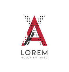 Xa logo with gray and red color that can be used vector