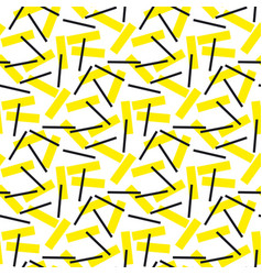 yellow and black rectangle geometry pattern vector image